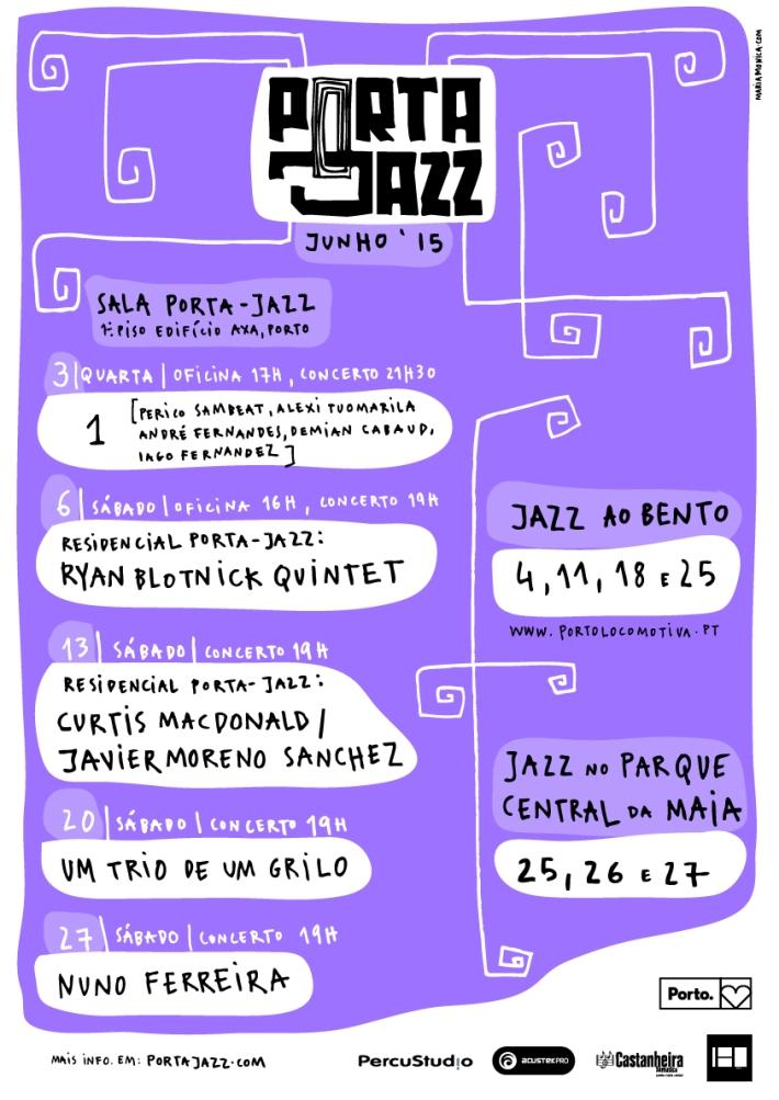 Cartaz Porta-Jazz Junho