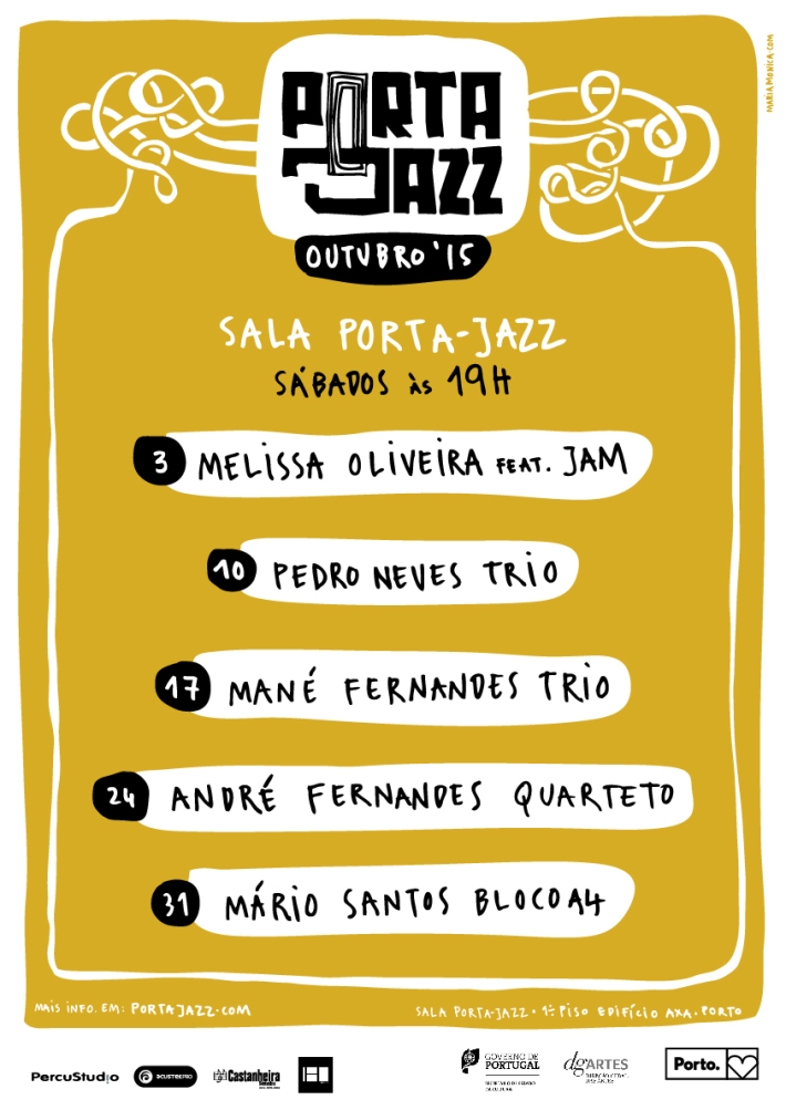 Cartaz Porta-Jazz Outubro